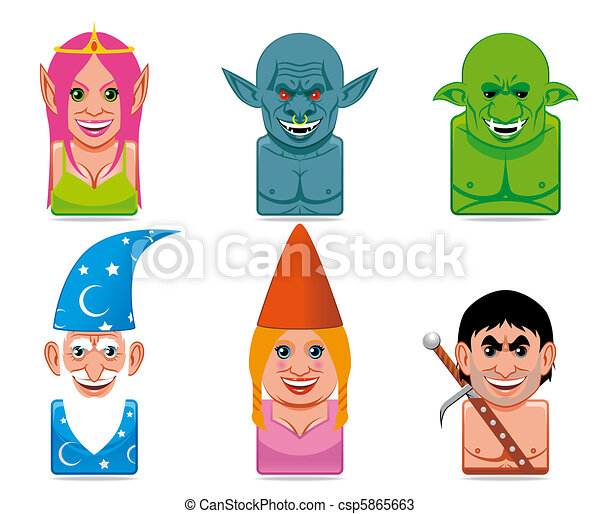 Avatar fantasy icons - csp5865663