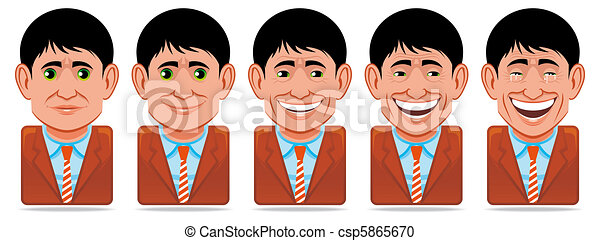 Avatar people icons (facial expressions:happiness) - csp5865670