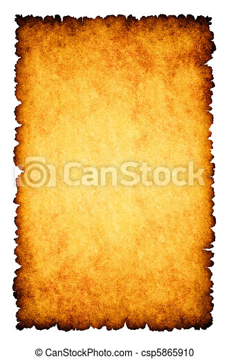 Rough burnt parchment paper background - csp5865910
