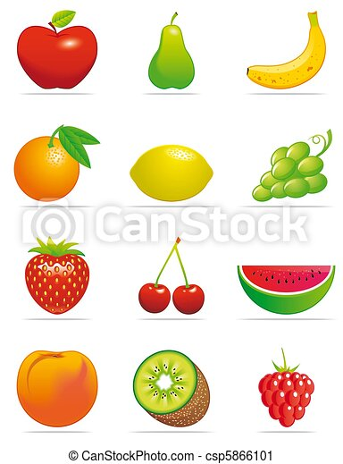 Fruits icons - csp5866101