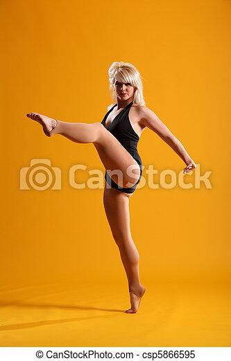 High kick dance move - csp5866595