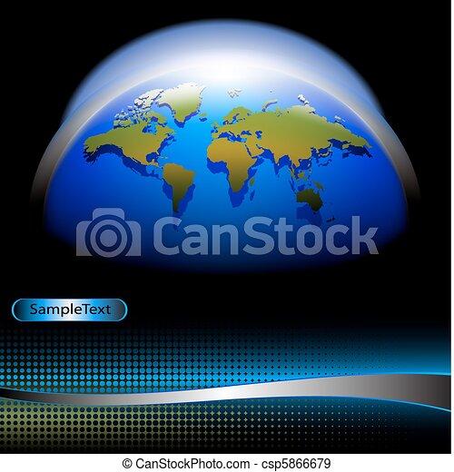world banner - csp5866679