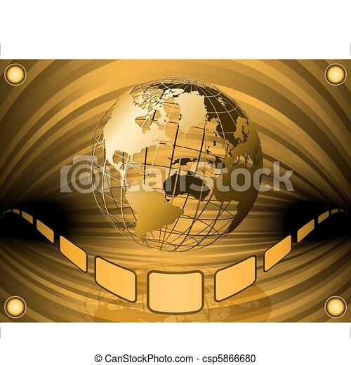 film globe - csp5866680