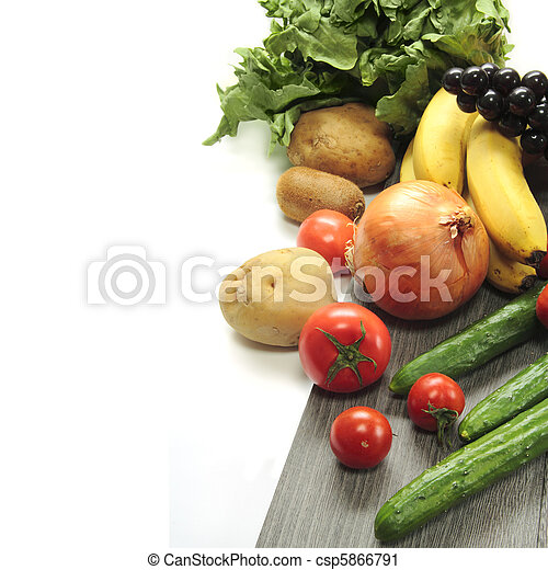 Vegetable on white background - csp5866791