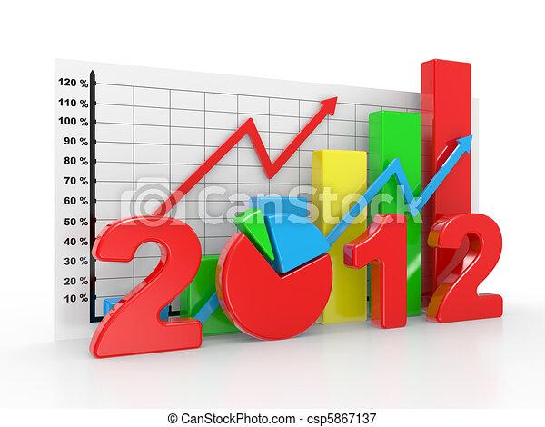 Business diagram 2012 - csp5867137