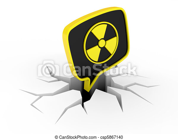 Radiation Sign  - csp5867140