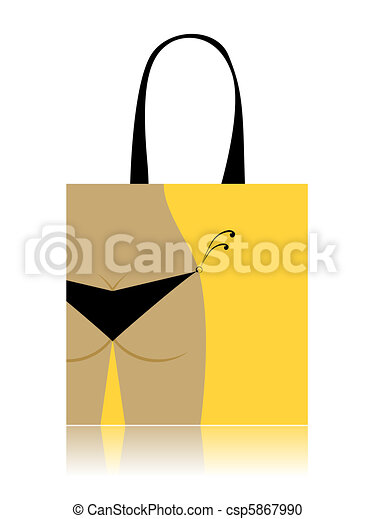 Shopping bag design - bikini bottom - csp5867990