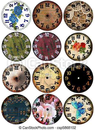 Grunge Clock Watch Faces 12  - csp5868102