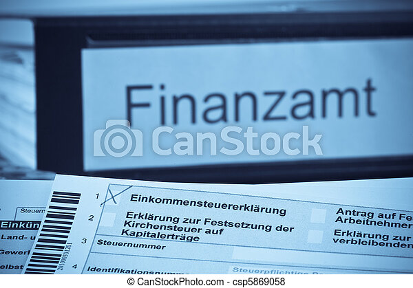 German income tax return - csp5869058