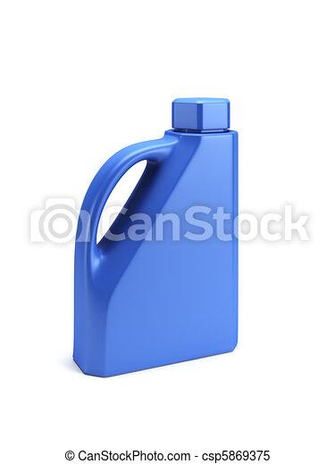 Motor Oil Bottle isolated 3d render - csp5869375