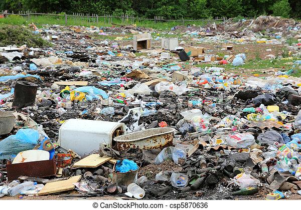 garbage in landfill - csp5870636