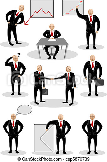 Business Person in Different Pose - csp5870739