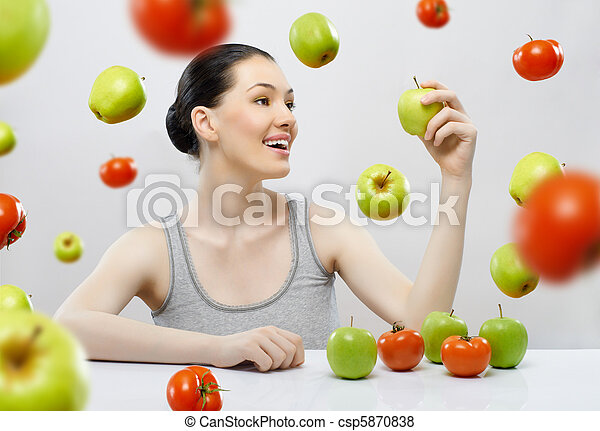 eating healthy food - csp5870838
