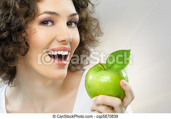 saudável, alimento, comer - csp5870839
