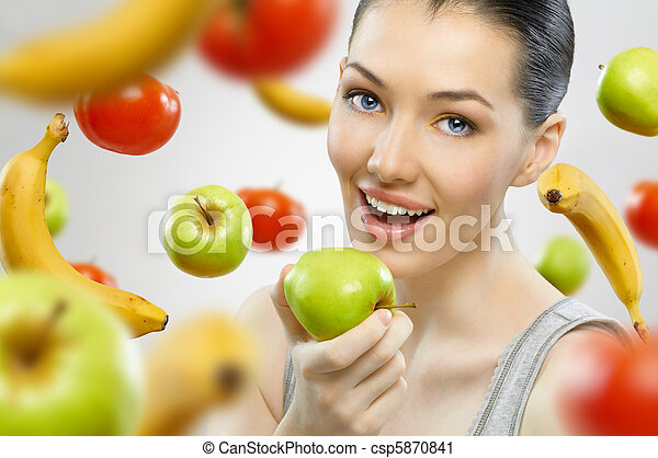 eating healthy fruit - csp5870841