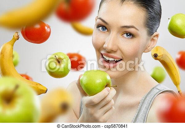 eating healthy fruit - csp5870841