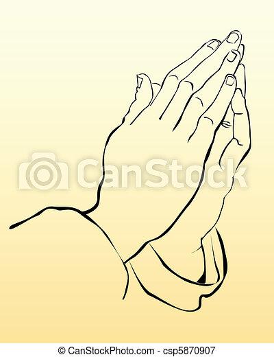 praying hands - csp5870907