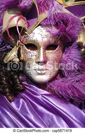 máscara, Veneza, carnaval, 2011 - csp5871419