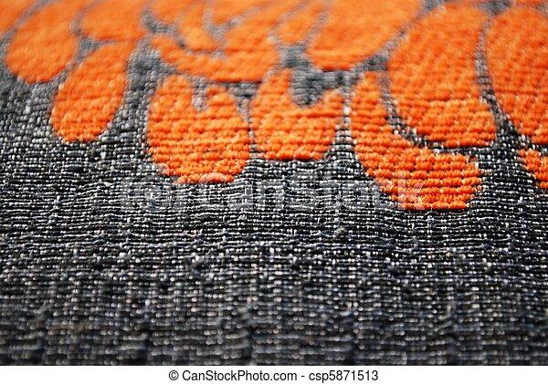 Gray and orange fabric texture - csp5871513