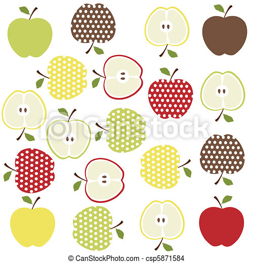 fruits, apples background - csp5871584