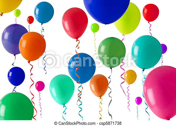 party balloon background - csp5871738