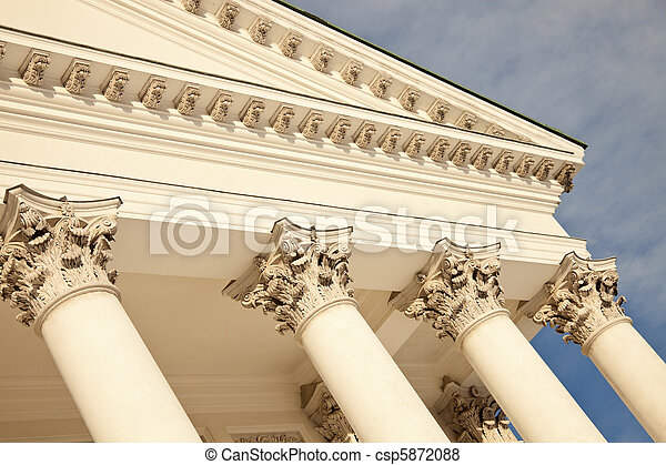 Columns of Lutheran Cathedral in Helsinki - csp5872088