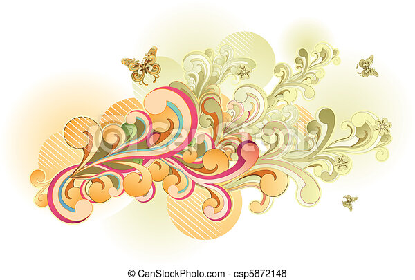 Retro Swirl - csp5872148