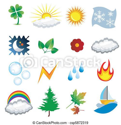 weather icons  - csp5872319