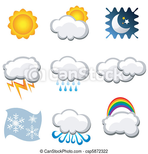 weather icons  - csp5872322