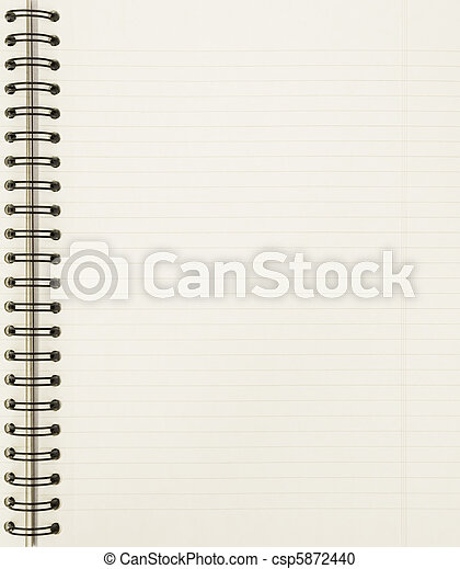 blank notebook sheet - csp5872440