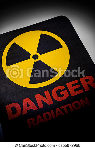 Radiation hazard sign - csp5872968