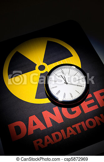 Radiation hazard sign  - csp5872969