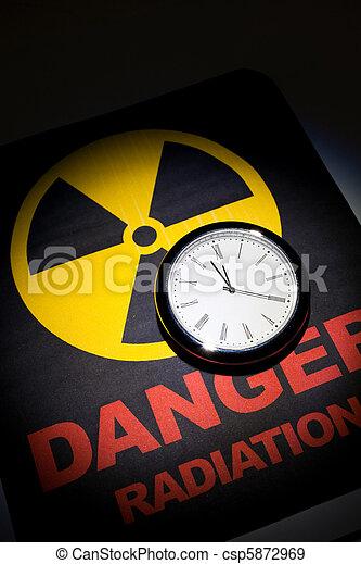 Radiation hazard sign  - csp5872969