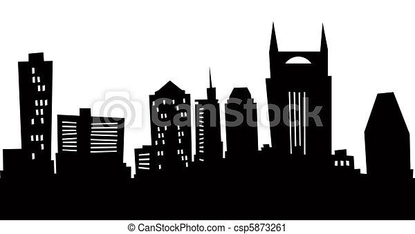 Cartoon Nashville Silhouette - csp5873261