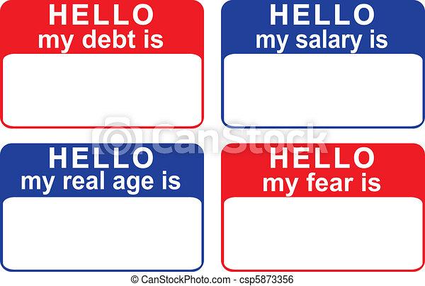 my debt is... - csp5873356