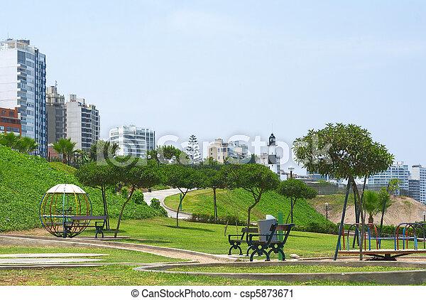 Park in Lima, Peru - csp5873671