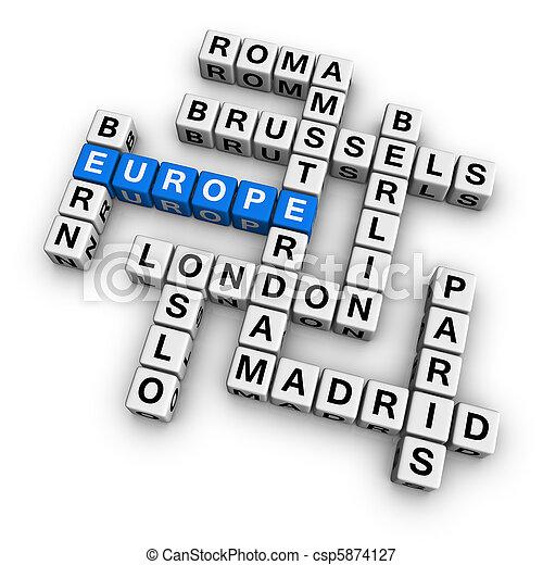 crossword europe - csp5874127