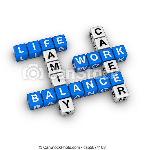 Work and Life Balance - csp5874183