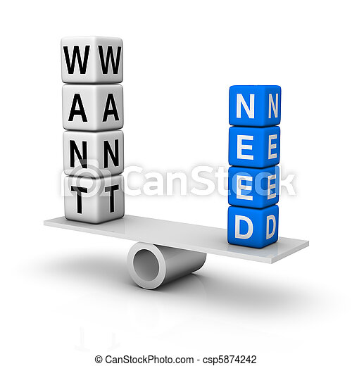 needs and wants - csp5874242