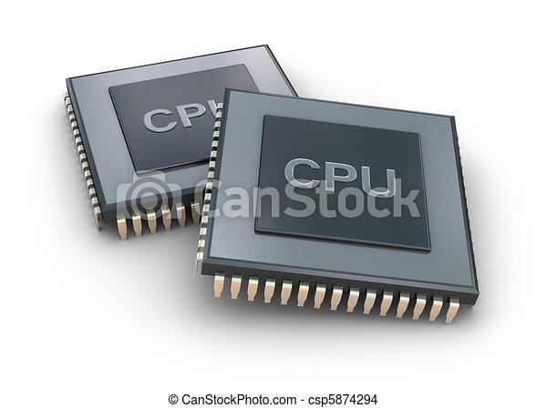 Processor unit 3D concept isolated - csp5874294