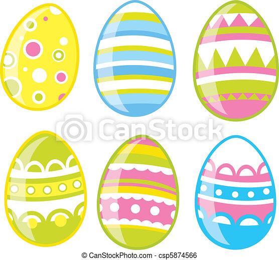 Easter eggs set - csp5874566