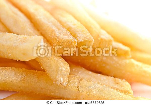 Fries french potatoes closeup  - csp5874625