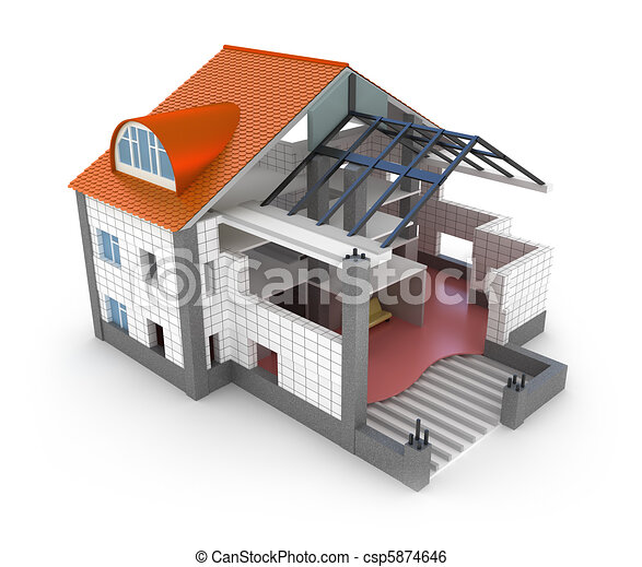 Stock Illustration Of Architecture Plan House Isolated On