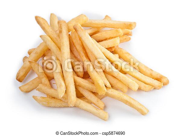 Fries french potatoes handful close - csp5874690