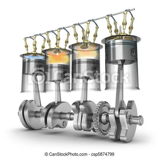 Engine function operating principle - csp5874799