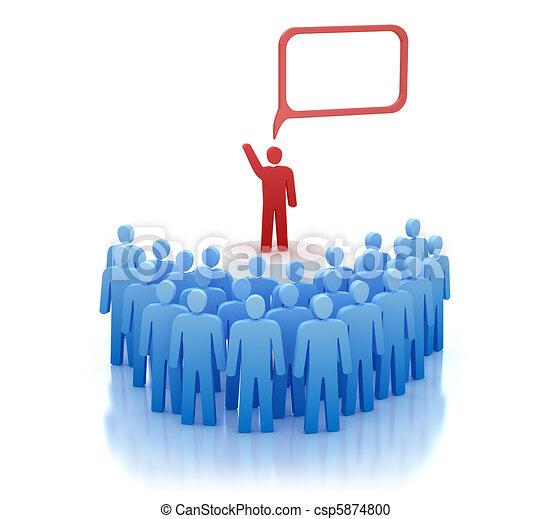 Orator on tribune - speech - csp5874800