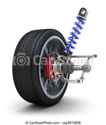 Wheel, shock absorber and brake pad - csp5874808