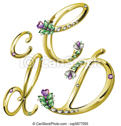 Gold Jewelry Clipart Gold Jewelry Alphabet Letters