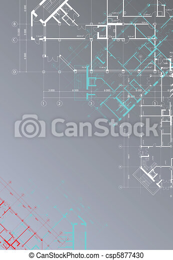 Vertical architectural background - csp5877430