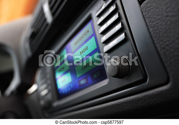 Cars multimedia system display. - csp5877597